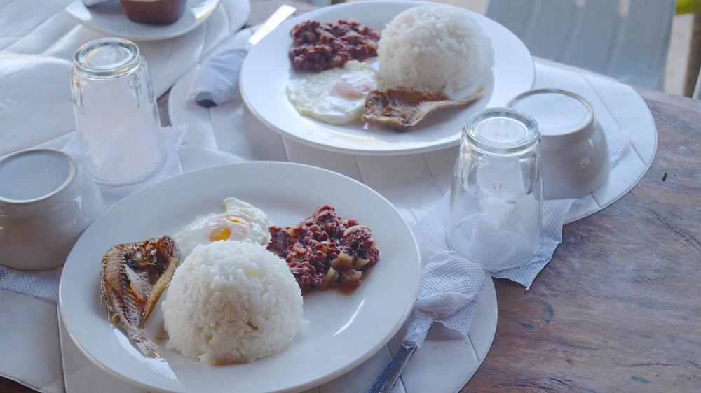 Breakfast at Gigantes Norte Hideaway Resort, Philippines