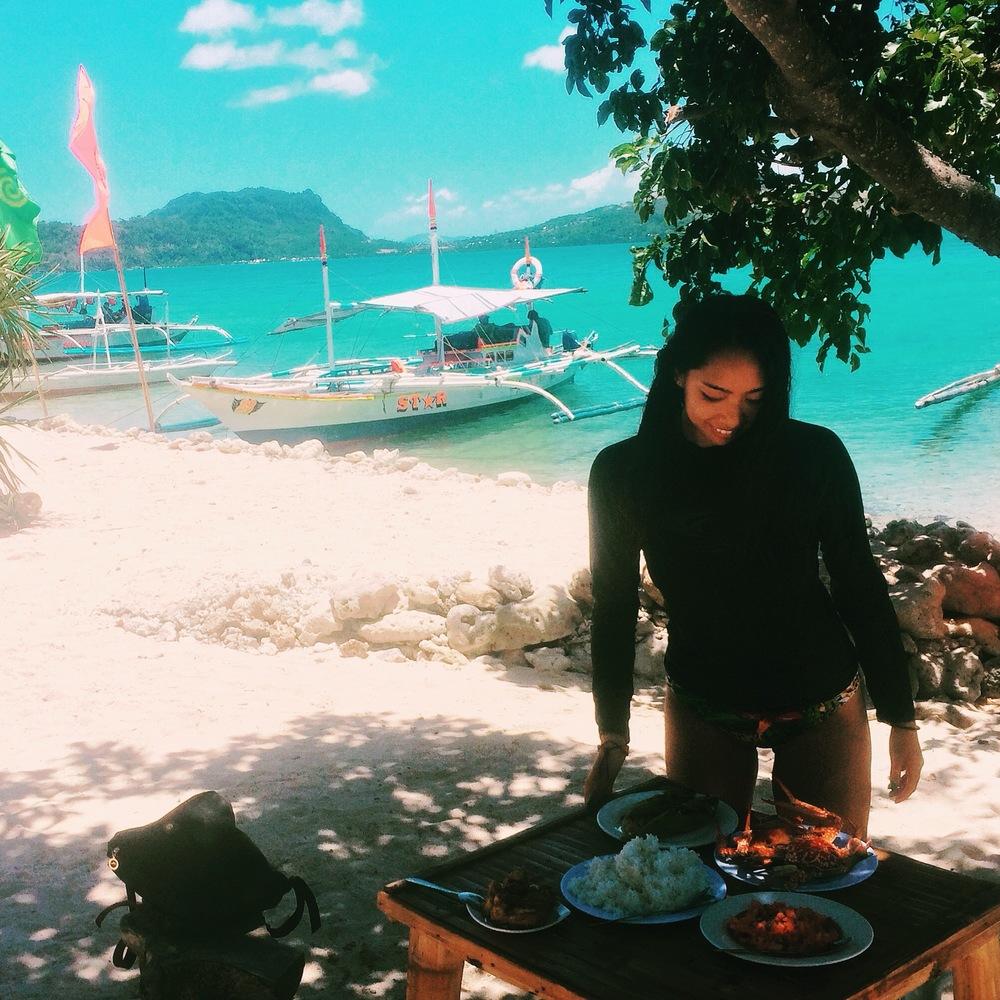 Antonia Island, Islas de Gigantes, Philippines - seafood meal - illumelation.com