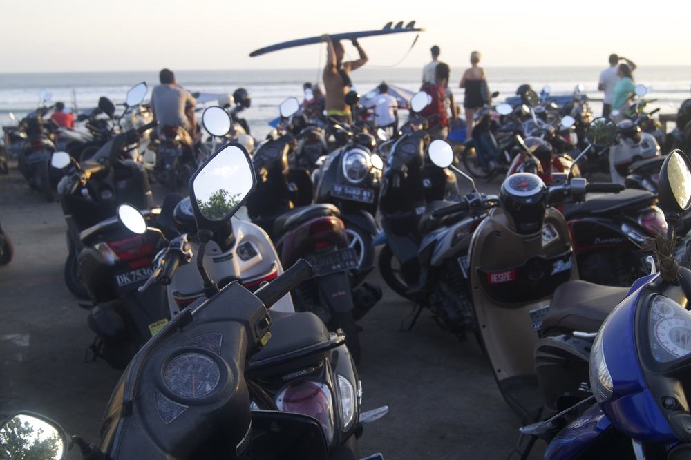 Canggu, Bali - Old Man's Beach - Motorbike Transportation and Sunset - illumelation.com