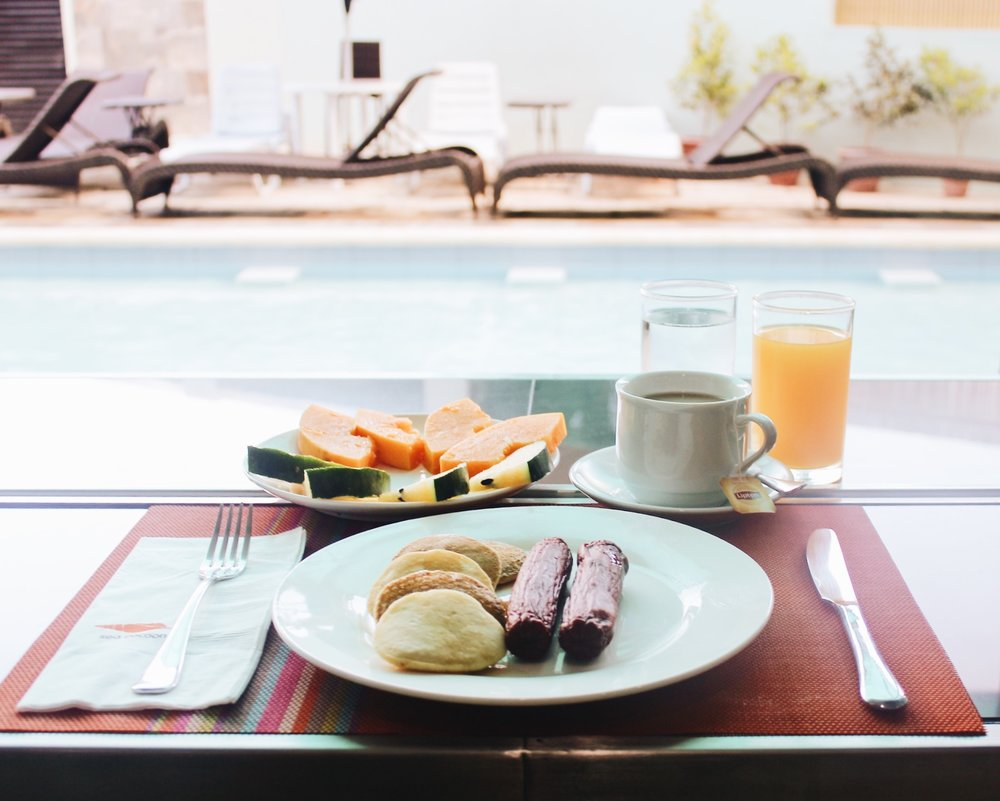Breakfast by Pool - Sea Cocoon Hotel - El Nido, Palawan - Review - .jpg