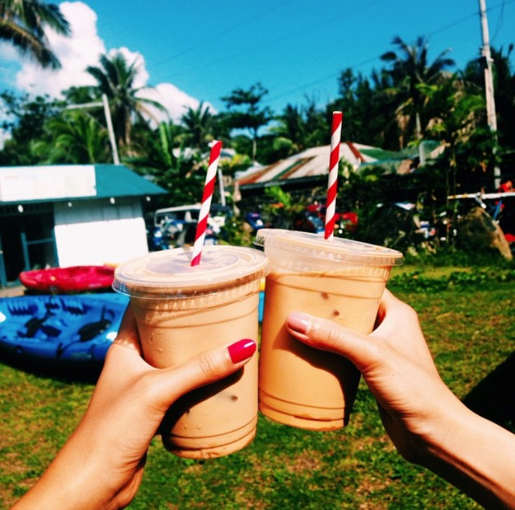 Delicious iced coffees from Groundswell Cafe in Baler, Quezon, Aurora Province - Luzon, Philippines