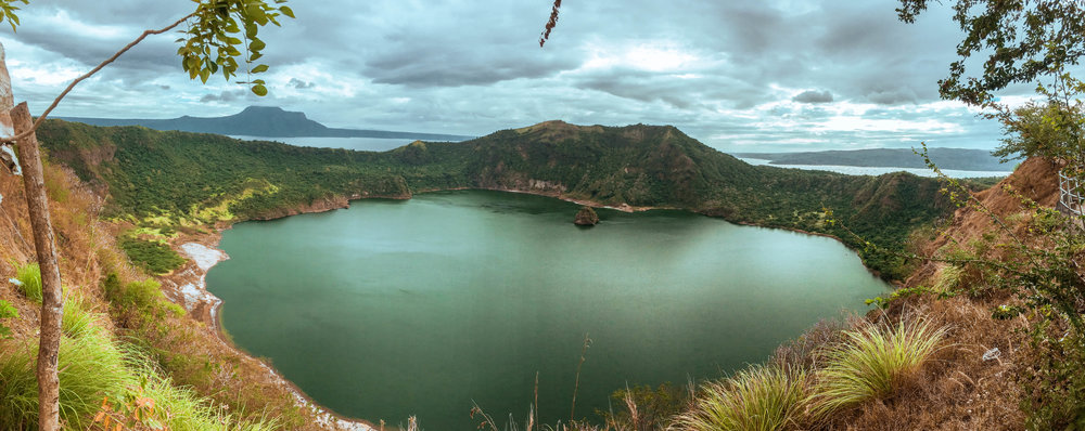 Taal Crater Lake on Taal Volcano in Tagaytay, Batangas Province - Luzon, Philippines