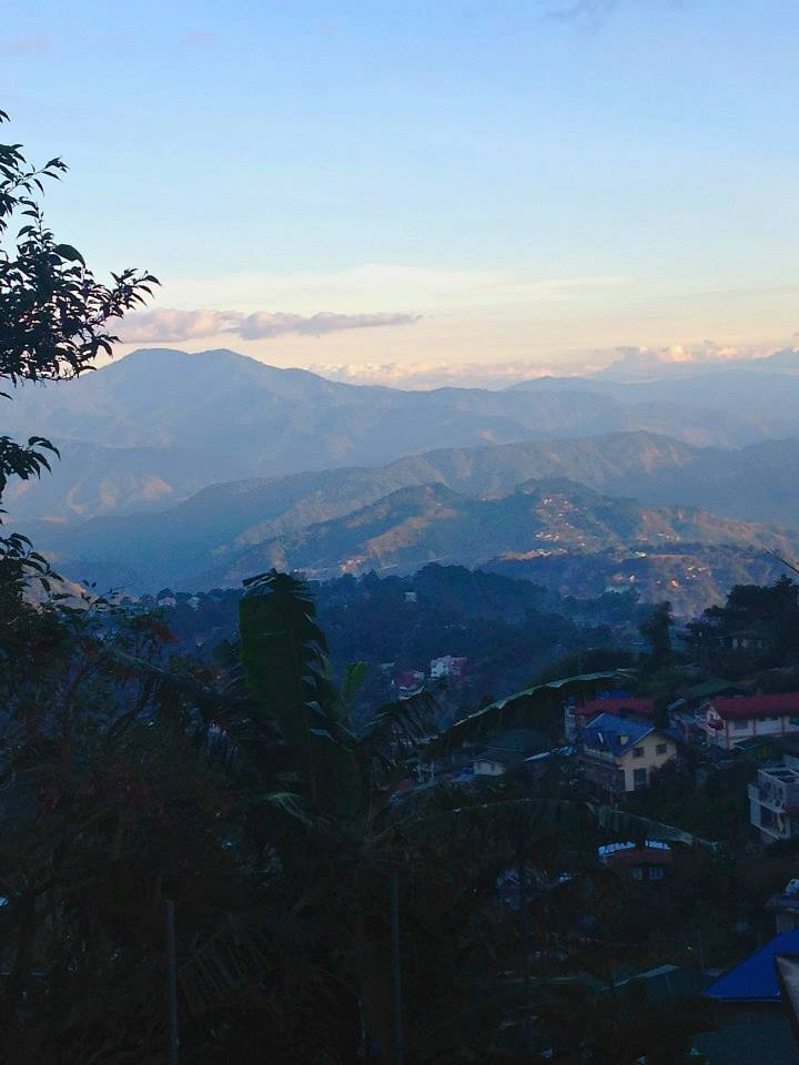 Sunset view over the mountaintops in Baguio, Benguet Province - Luzon, Philippines