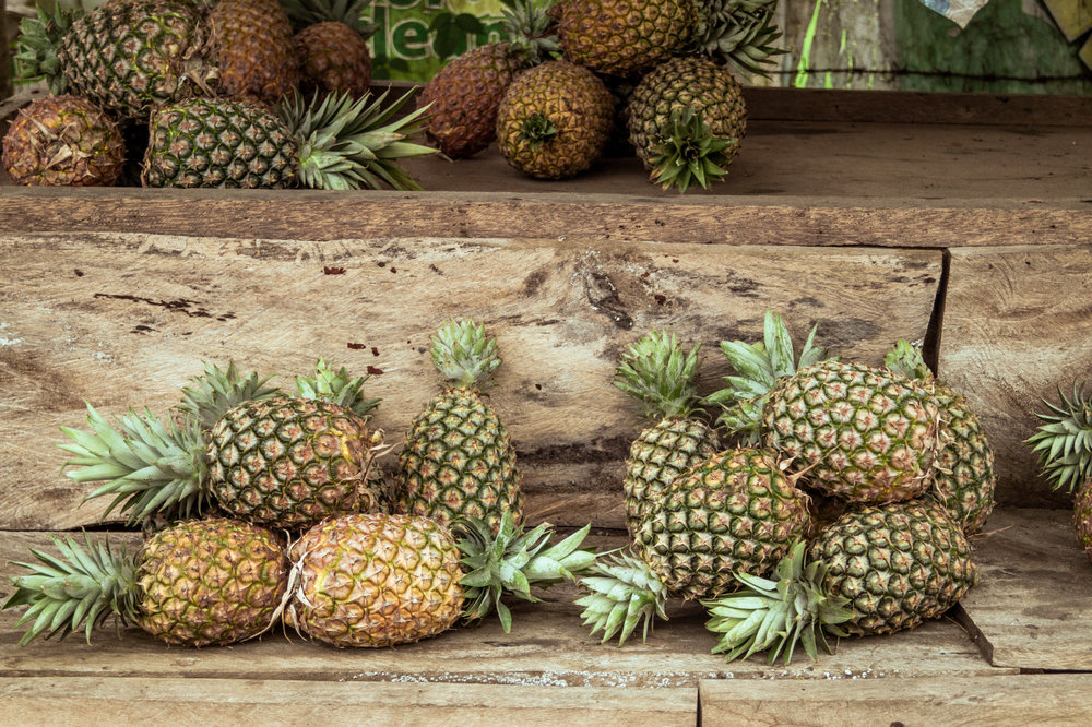 Sweet local pineapples in Tagaytay, Batangas Prvovince - Luzon, Philippines