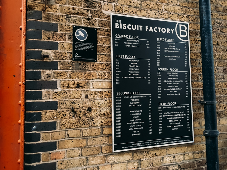 The Biscuit Factory in Bermondsey, London