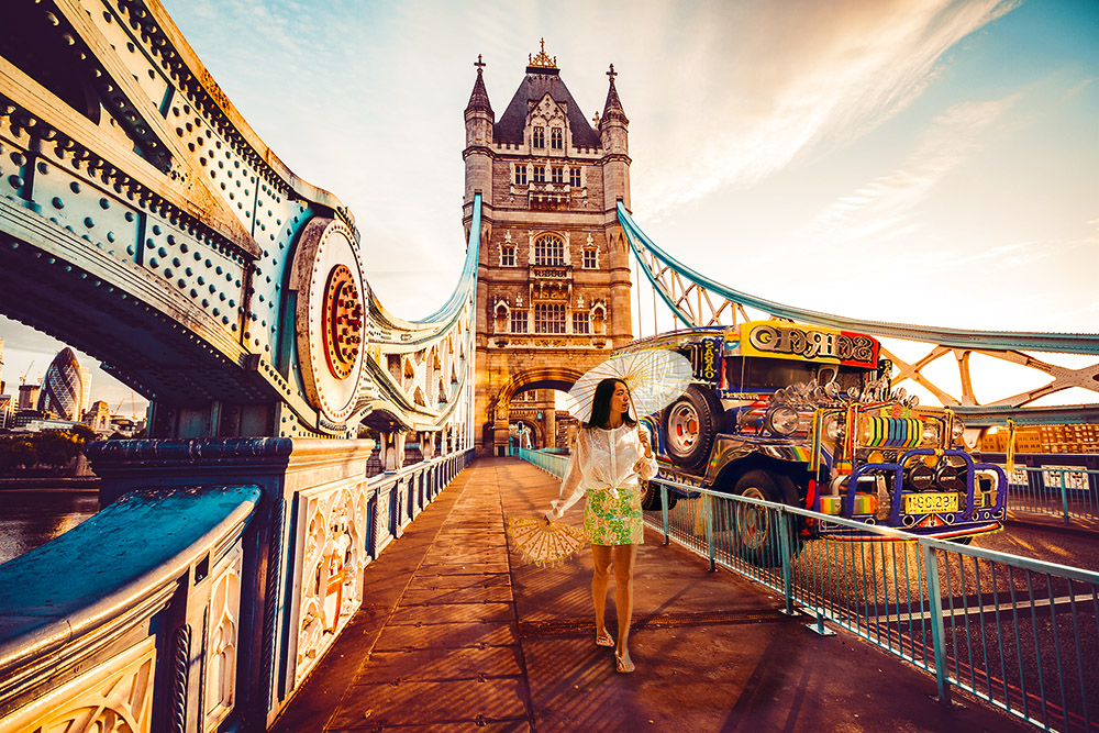 """Manila Streets meet London Bridge"" - my original creation for Adobe Stock"