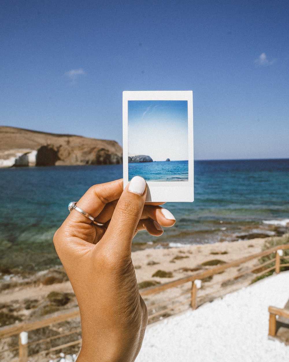 Salt Milos - View from the Suite - Polaroids of Pollonia