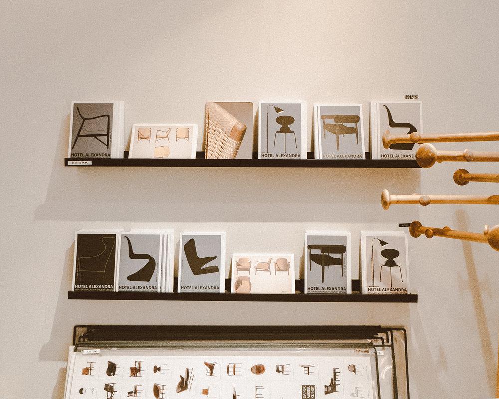 Hotel Alexandra Copenhagen Review - Postcards in Lobby Reception Area