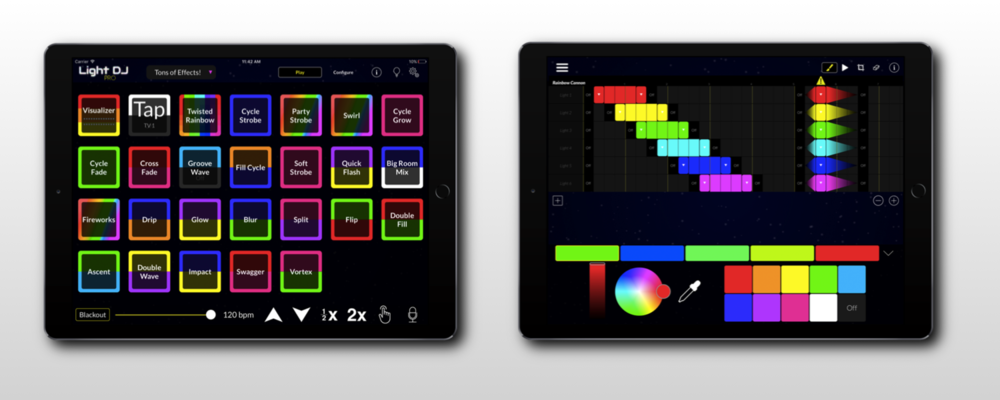 Light DJ for iPad is your ultimate smart bulb performance controller for Philips Hue and LIFX..