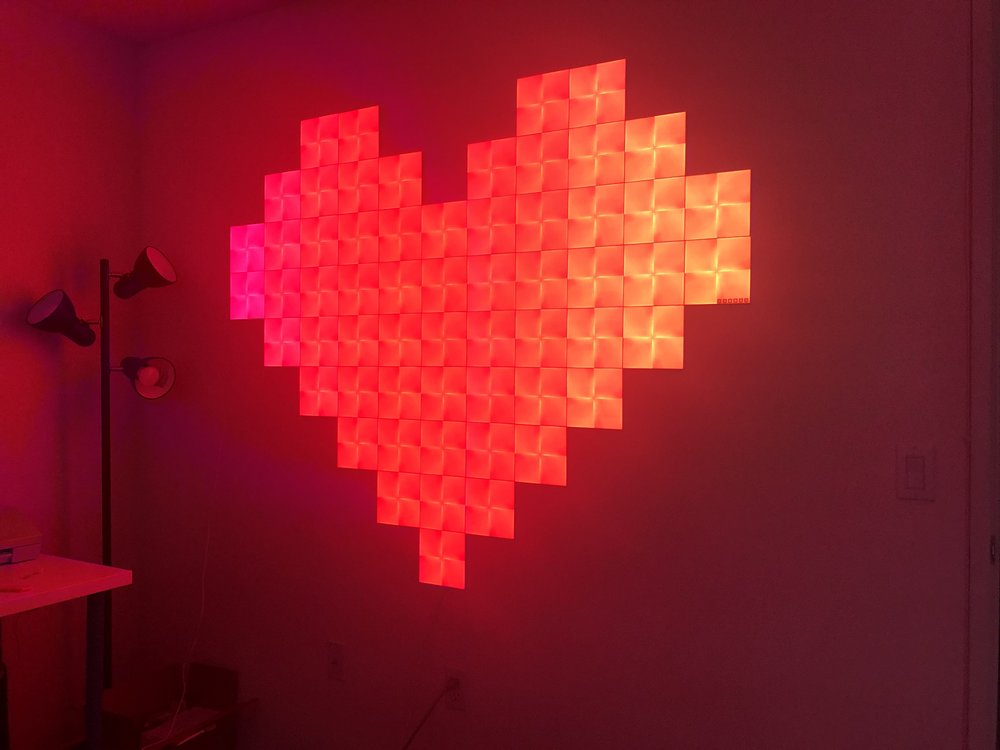 Light DJ effects work with new Nanoleaf Canvas tiles. <3