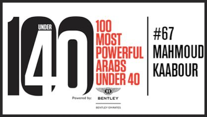 100 Most Powerful Arabs Under 40 - Mahmoud Kaabour filmmaker