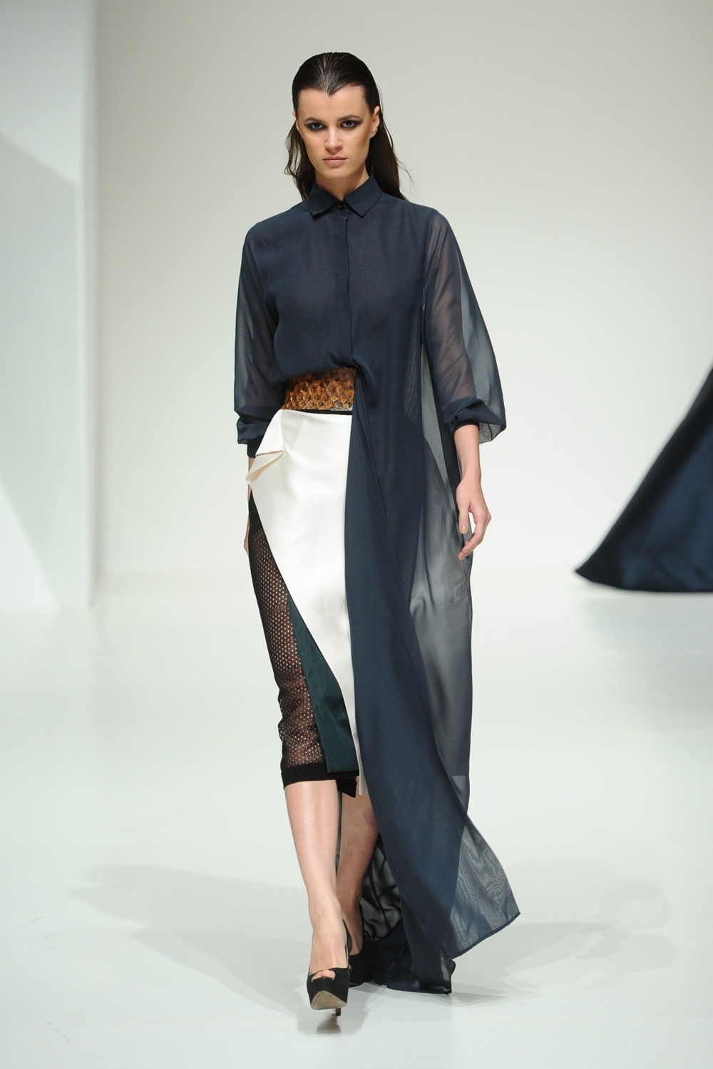 Hussein Bazaza at Fashion Forward Season 5. Dubai, United Arab Emirates