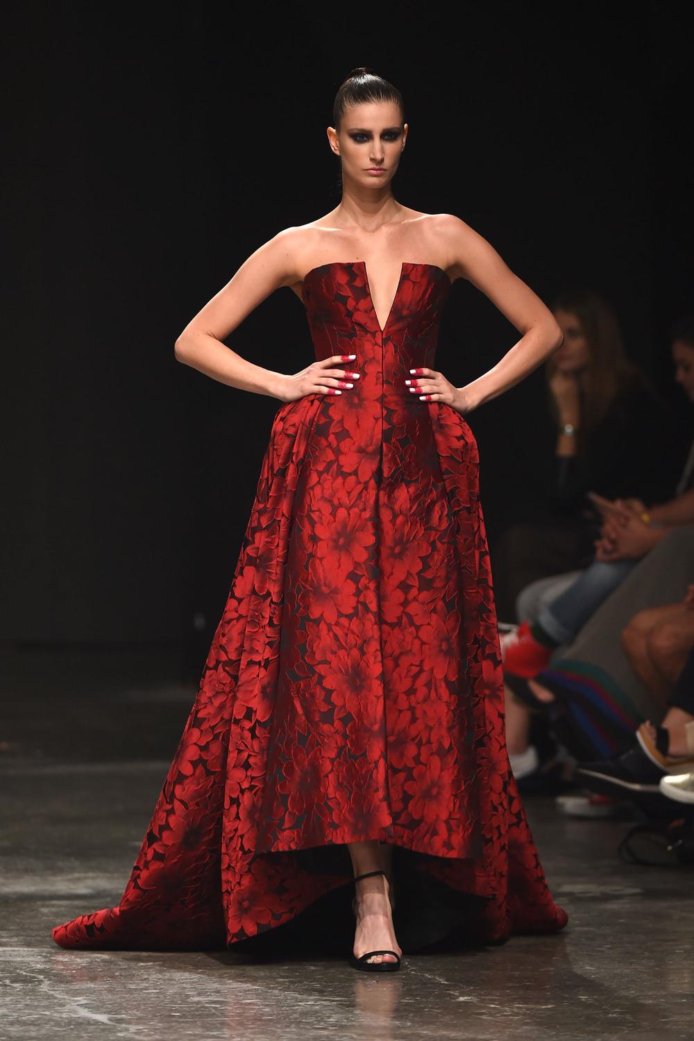 Jean Louis Sabaji at Fashion Forward Season 5. ubai, United Arab Emirates