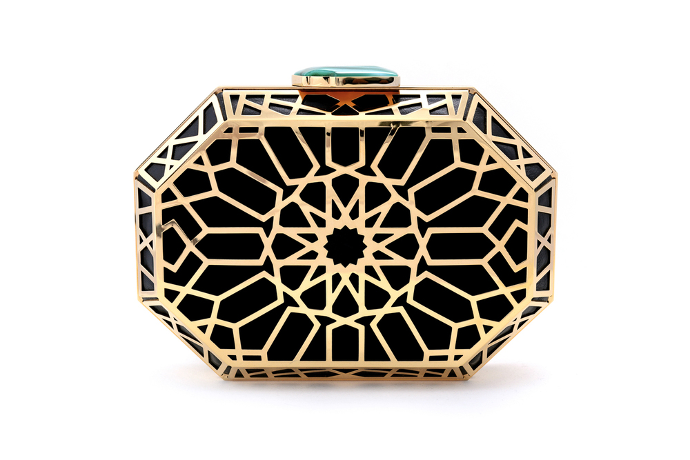 NS by Noof Shaikha Black  Gold Clutch.jpg