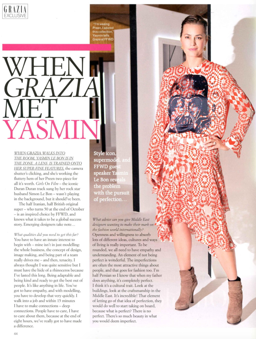 Grazia Middle East - October 2014
