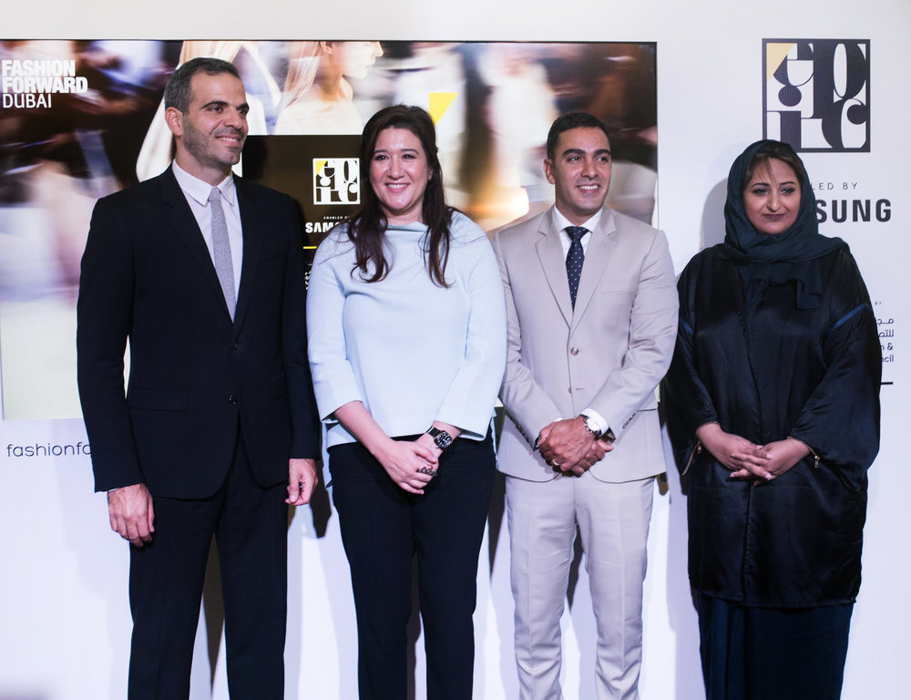 Abdo Chlala, Regional Head of IT and Mobile Division at Samsung MENA. Nez Gebreel, CEO of Dubai Design and Fashion Council Ramzi Nakad, COO and Co-Founder of Fashion Forward Dubai Maitha Al Suwaidi, Director of Partner Relations at Dubai Design District