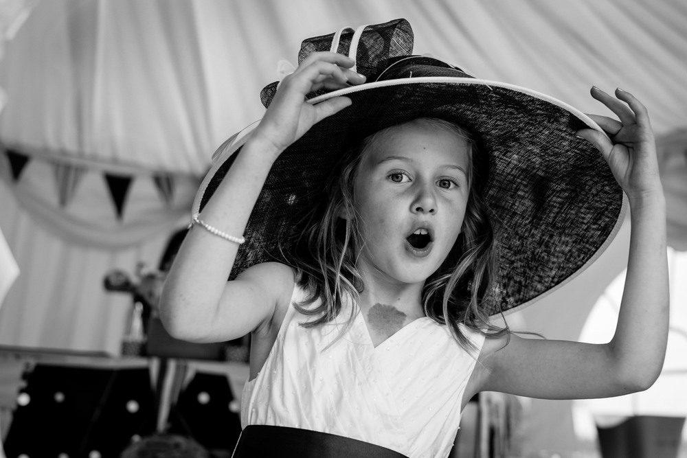 Wedding Flowergirl with hat