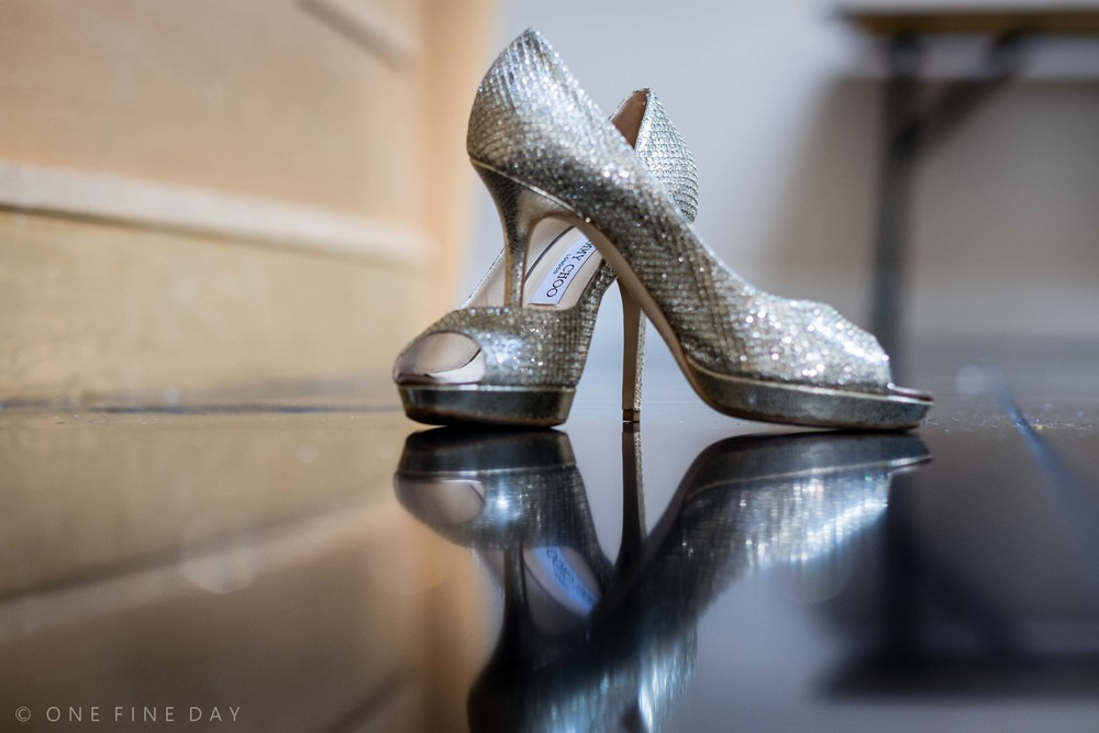 Wedding Shoes Reflection