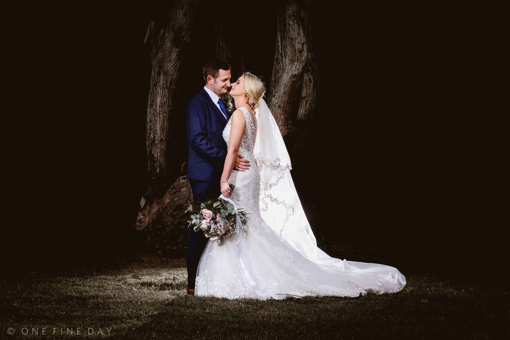 Natural wedding picture of the Bride and Groom at Crawfordsburn Country Park Northern Ireland