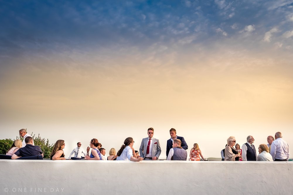 Relaxed and natural wedding photograph of guests at Orange Tree House Northern Ireland