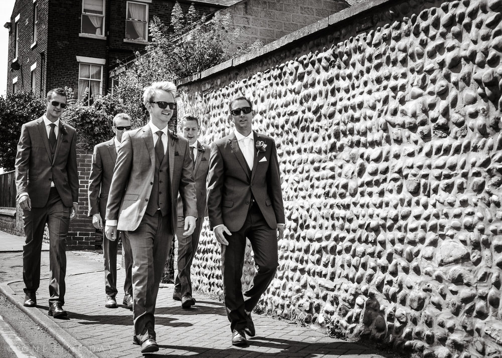 Reservoir Dogs - on the way to a wedding rather than a bank robbery!