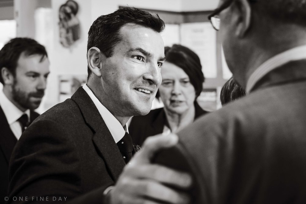 Wedding guests captured in documentary style wedding photography in Northern Ireland