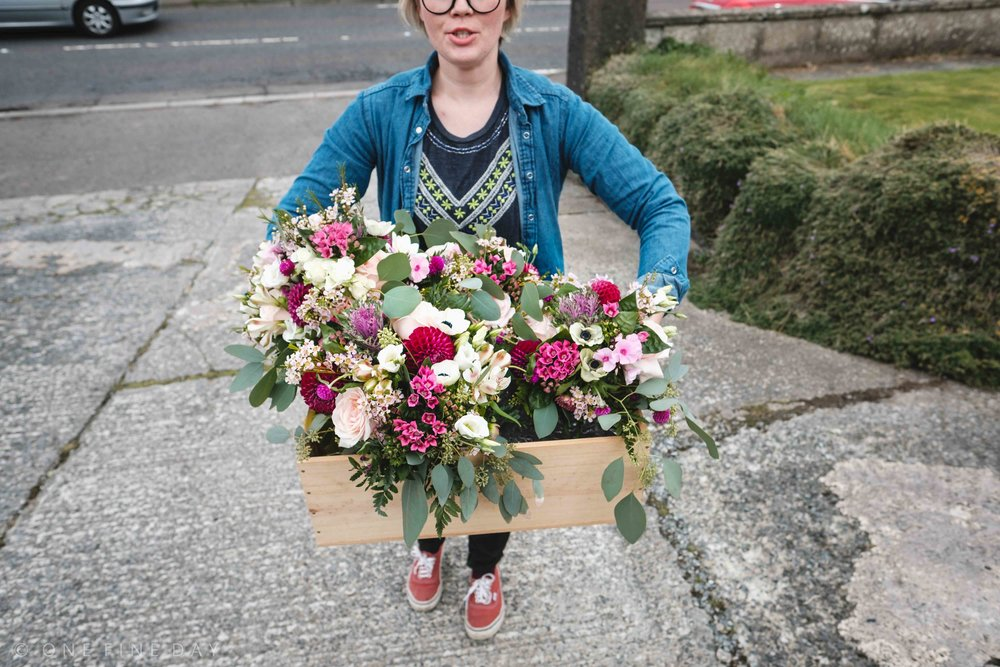 Wedding Florist delivering flowers