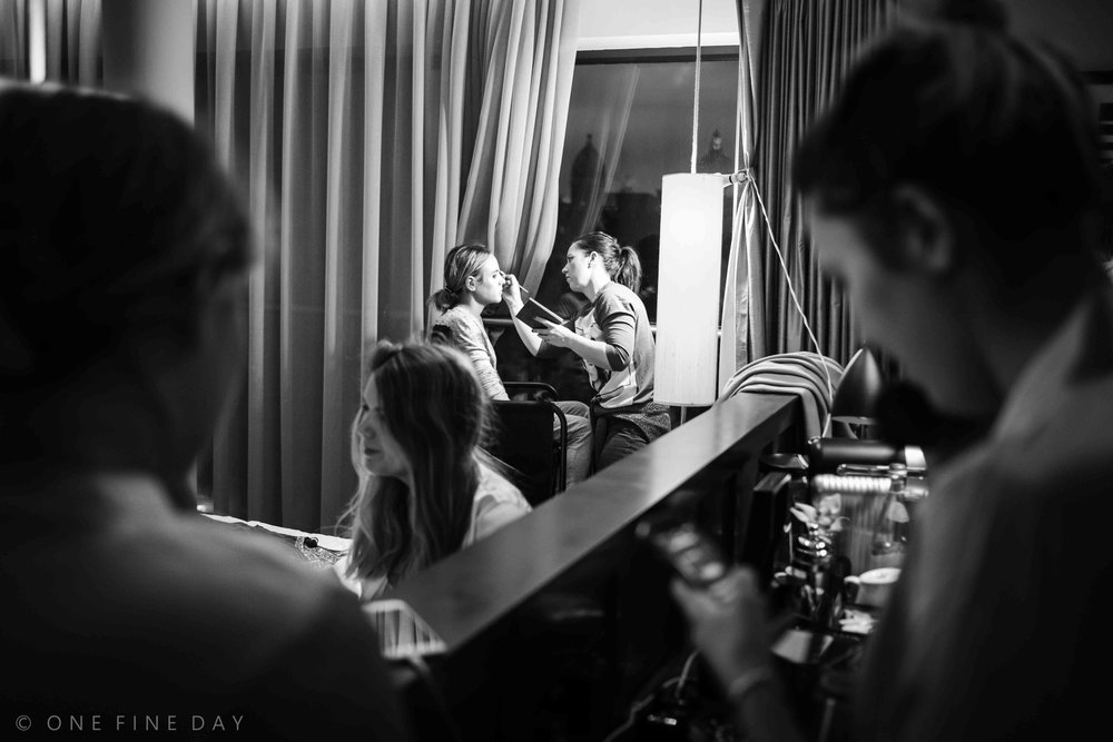 Fitzwilliam hotel wedding morning photography