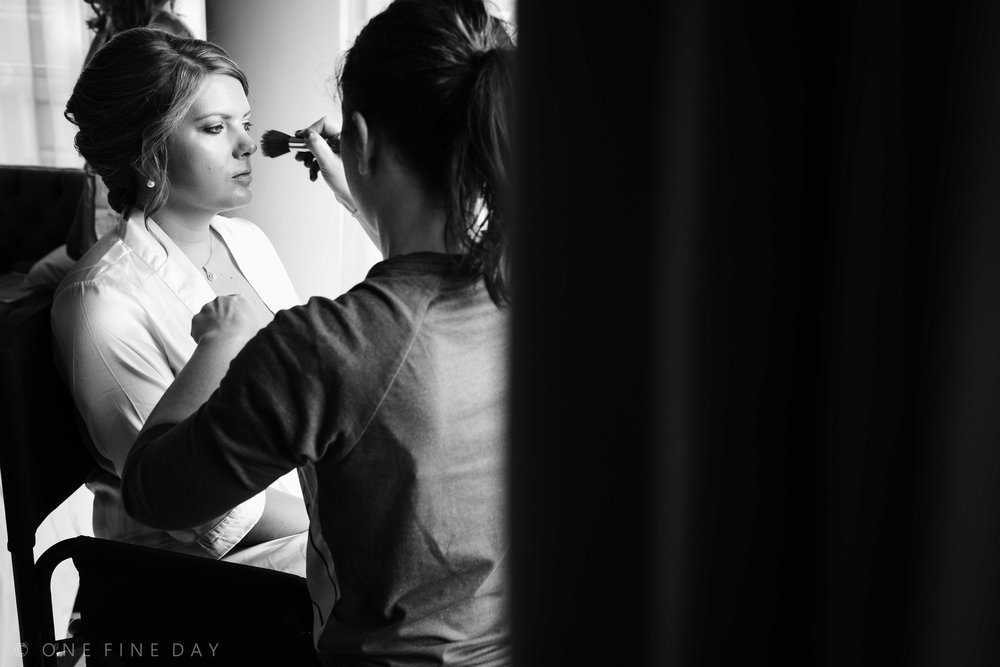 Bride getting ready Fitzwilliam Belfast
