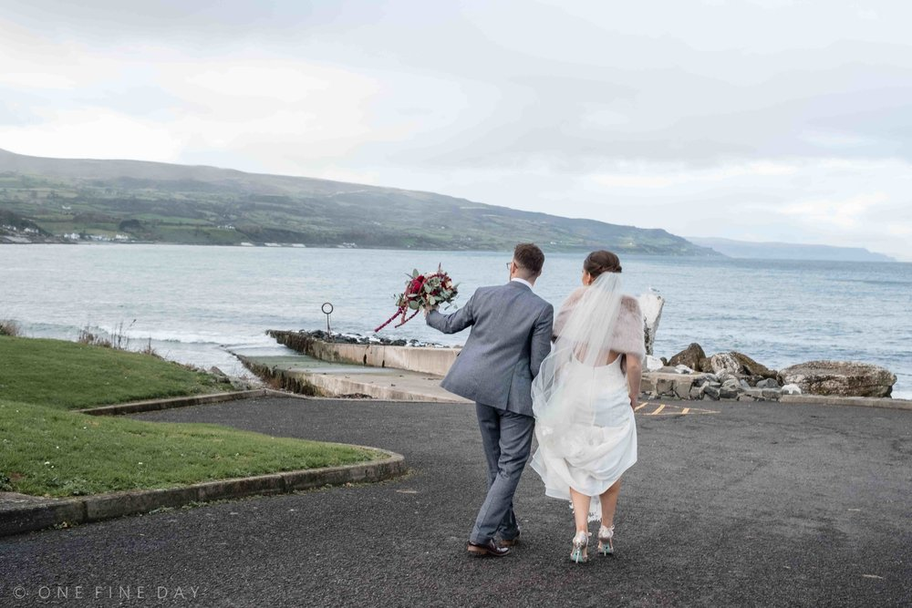 Bride and Groom Ballygally Castle