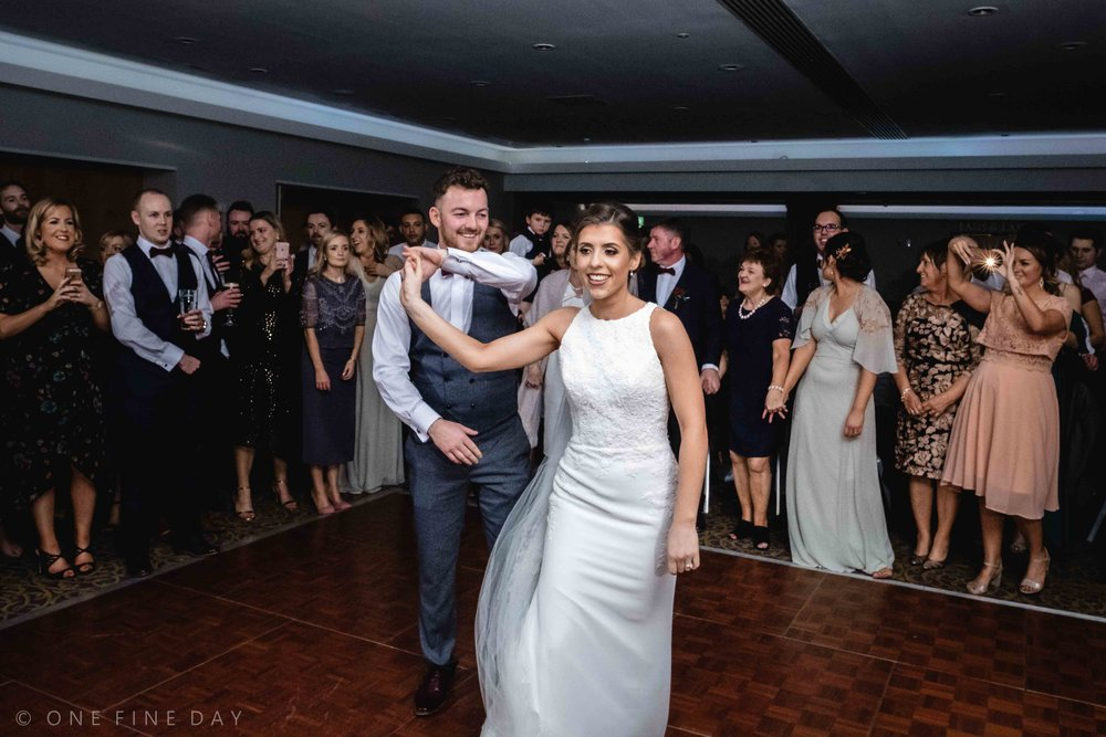 Wedding First dance at Ballygally castle Northern Ireland