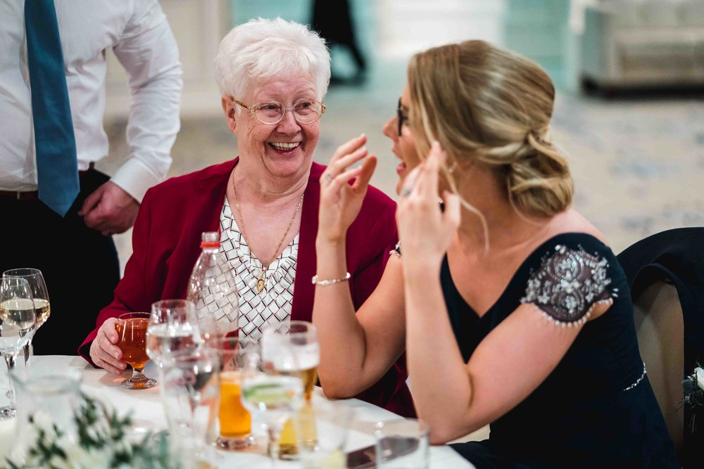 Natural photograph of wedding guest