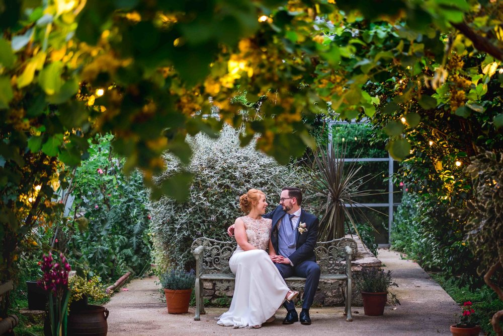 Natural and relaxed wedding portrait of Bride and Groom at Larchfield Estate in Northern Ireland