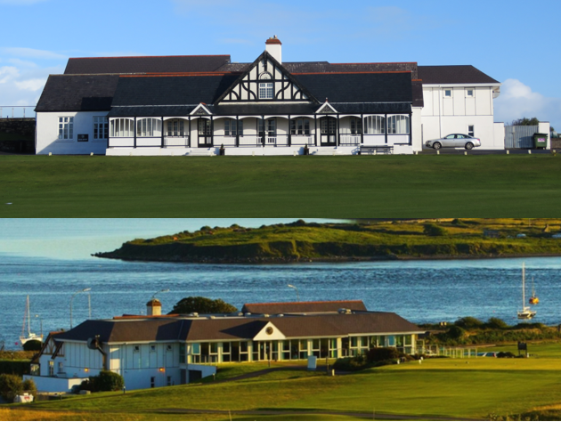 Clubhouse Front and Back from 2nd Fairway