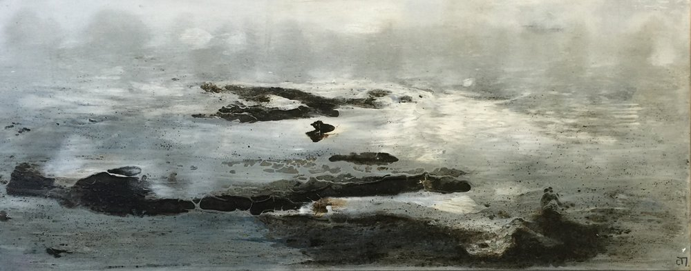 Sintiendo el mar (100 x 40)