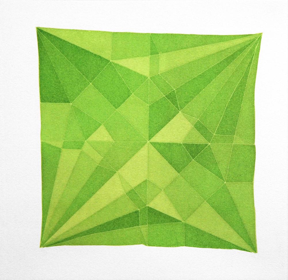 Origami Crane Green, 2014