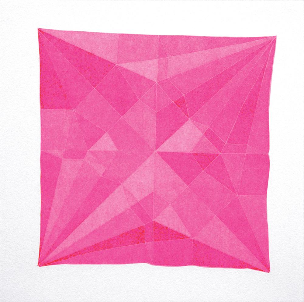 Origami Crane Pink, 2014