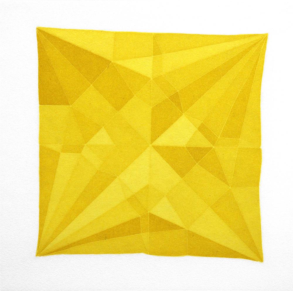 Origami Crane Yellow, 2014