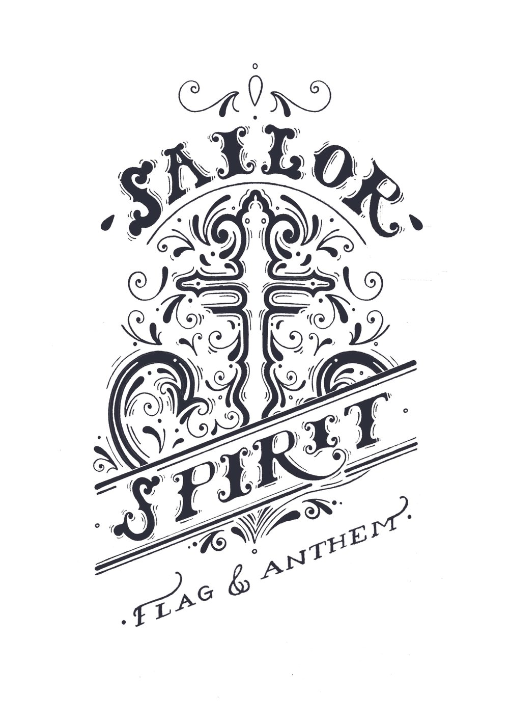 Sailor Spirit - Nautical Typographic Clothing design for Flag & Anthem Clothing,2016.