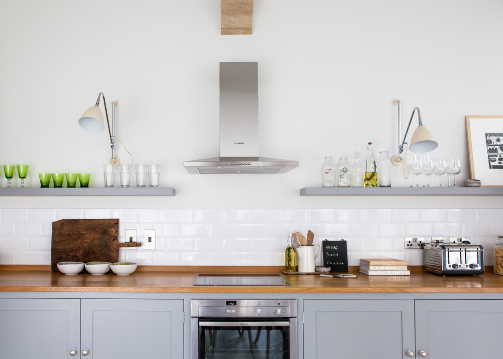 floating wall shelves in kitchen, Seatown