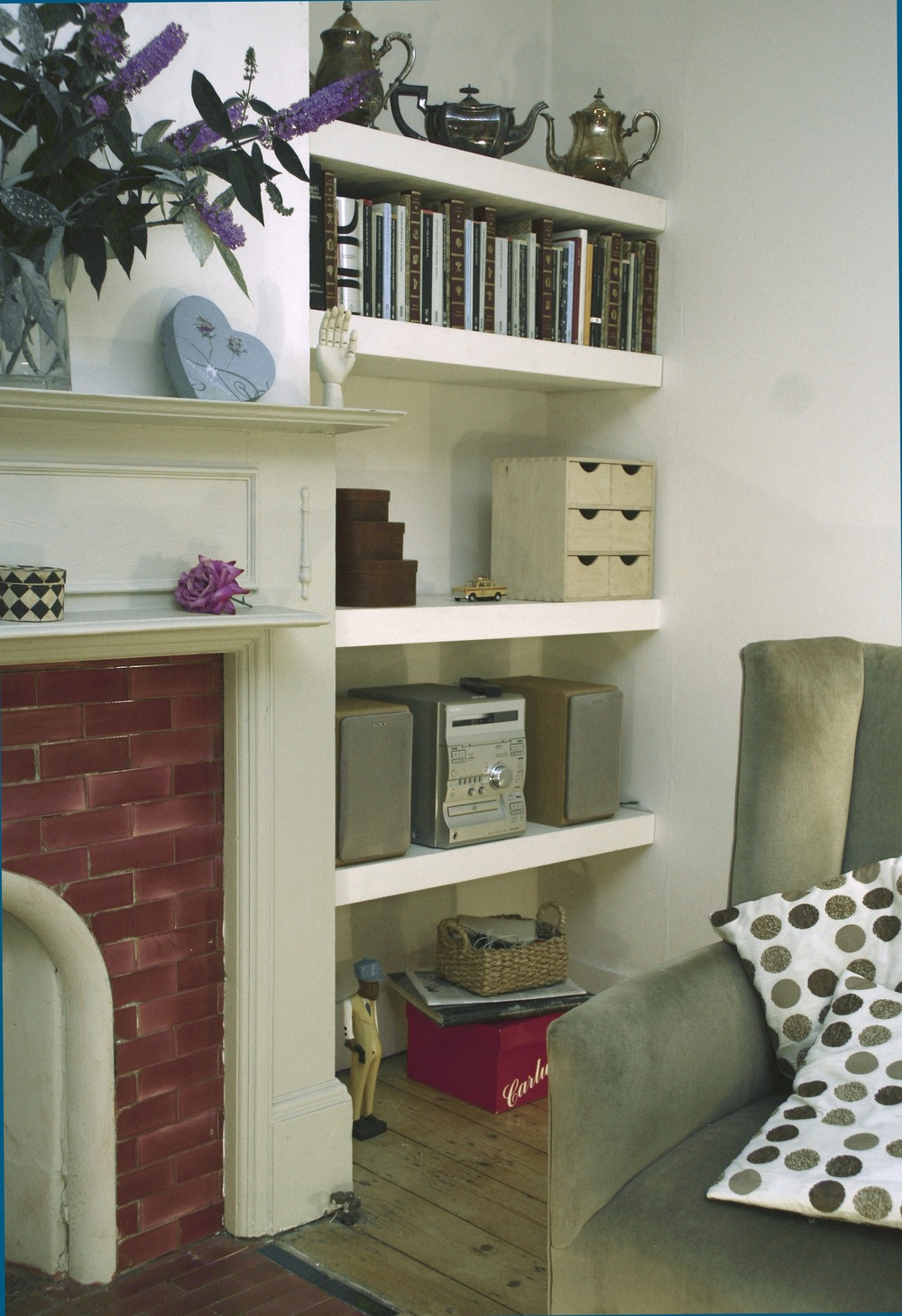 alcove shelves, Ladywell