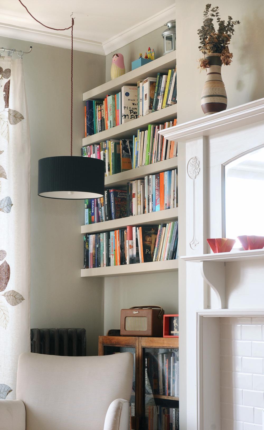 alcove shelves, Brixton