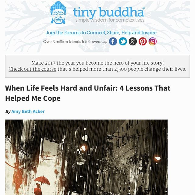 My latest article appears in Tiny Buddha. It's a personal account of my family's experience with the NICU two years ago and the lessons I still carry with me today. Check it out! Link in profile.