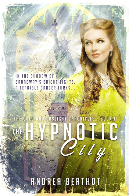 - THE HYPNOTIC CITY(Curiosity Quills Press, Aug. 2016)Philomena Blackwell survived a city plagued with monsters, the gilded cage of high society, and the rule of a heartless man... and she aims to leave it all behind. The world is waiting, and for a girl who dreams of being its most dazzling star, what could be more enticing than the bright lights of New York City?When Philomena lands a big break, it seems as if the city is ready to fall under her spell - just as she seems to be falling for a handsome young stage manager. But is it her stage presence mesmerizing the audience, or something more sinister behind the scenes?She's always relied on her fierce will and fiery heart, but a new and more terrible danger lurks in the shadows of Broadway's bright lights, and even a mind as determined as hers may not be immune to its seductive, insidious pull.