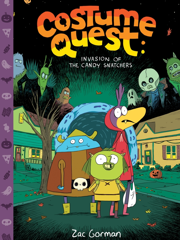 - COSTUME QUESTInvasion of the Candy Snatchers(Oni Press, Oct. 2014)Dwayne McDuffie Award NomineeKlem and his pals aren't the most popular Grubbins in candy-starved Repugia, but Klem's hoping that will change once he brings a hoard of candy back from the human world. After all, it's Halloween, so there's candy everywhere! Unfortunately, there're also bullies everywhere, ready to steal all of Klem's sweet, sweet loot. Will he and his friends make it out alive, or are they doomed to an eternity of sugar-free torment?