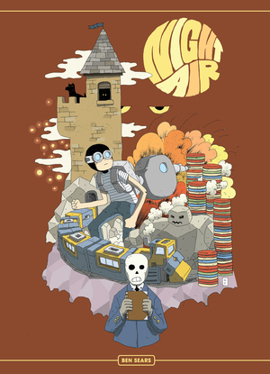 - NIGHT AIR(Koyama Press, May 2016)Plus Man is a roguish knave without equal, an antihero in his own mind. His coolheaded robot, however, knows better. This odd couple has just been given a break: a tip on a score of valuable alloy. The catch? The alloy is in a haunted castle. One really haunted castle.