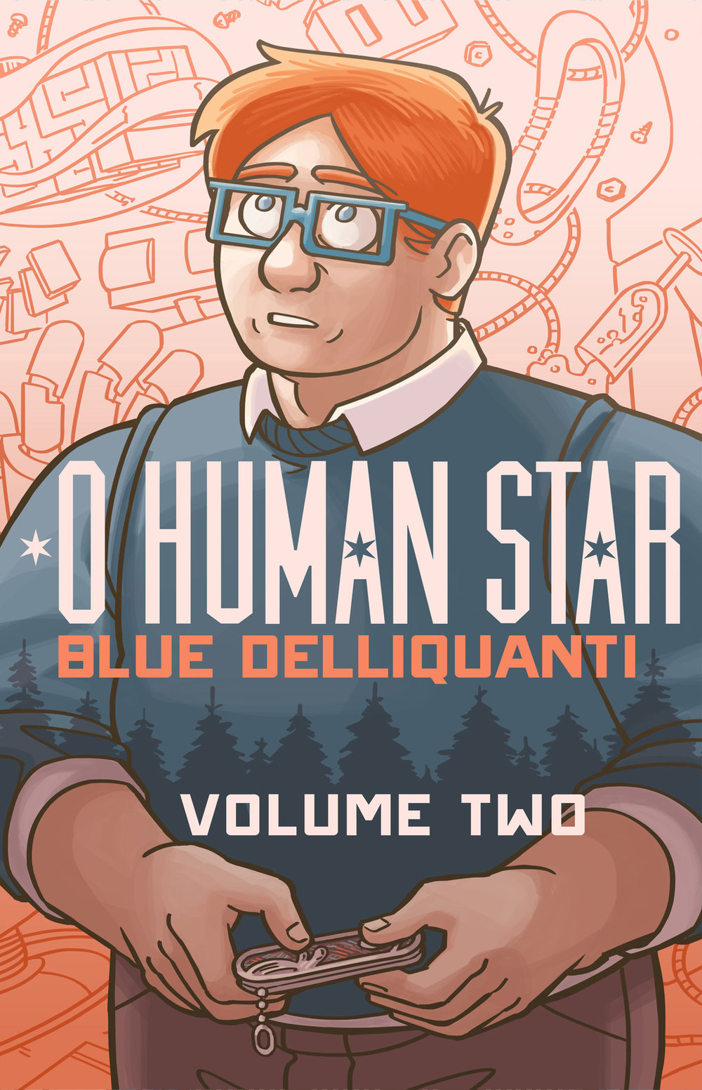 - O HUMAN STAR - Volume Two(2017)Alastair Sterling was the inventor who sparked the robot revolution. And because of his sudden death, he didn't see any of it.That is, until he wakes up 16 years later in a robot body that matches his old one exactly. Until he steps outside and finds a world utterly unlike the one he left behind – a world where robots live alongside their human neighbors and coexist in their cities. A world he helped create.Now Al must track down his old partner Brendan to find out who is responsible for Al's unexpected resurrection, but their reunion raises even more questions.Like who the robot living with Brendan is. And why she looks like Al. And how much of the past should stay in the past…