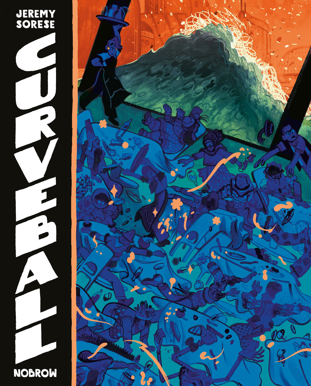 - CURVEBALL (Nobrow Press, Fall 2015)2016 Lambda Literary Award finalistTranslations: rightsandlicensing@nobrow.net Italy (Bao Publishing)Curveball is a science fiction graphic novel telling the story of a waiter named Avery coping with the ending of a difficult relationship. Having spent years attempting to build something substantial with an indecisive sailor named Christophe, Avery stubbornly holds on despite the mounting evidence against him. The idea of the relationship has eclipsed its reality and in Avery's already troubled life, the allure of something dependable is a powerful force.