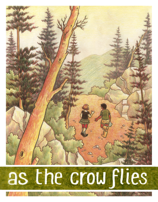 - AS THE CROW FLIES(Iron Circus Comics, Nov. 2017)2018 Stonewall Honor Book2018 EGL Award Winner2018 Dwayne McDuffie for Kids' Comics nomineeCamp Three Peaks is a rustic, Christian summer retreat for teenage girls! A week of hiking, adventure, and communing with the God of its 19th-century founders... a God that doesn't traditionally number people like 13-year-old Charlie Lamonte among His (Her? Their? Its?) flock.The only black camper in the group, and queer besides, she struggles to reconcile the innocent intent of the trip with the blinkered obliviousness of those determined to keep the Three Peaks tradition going. As the journey wears on and the rhetoric wears thin, Charlie can't help but poke holes in the pious disregard this storied sanctuary has for outsiders like herself—and her fellow camper, Sydney.