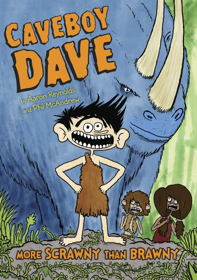 - CAVEBOY DAVE: More Scrawny Than Brawny (Viking Children's, November 2016) - artistAmazon Best Book of the Month - Nov. 2016Translations: subrights@penguinrandomhouse.comItaly (Editrice Il Castoro)Netherlands (De Fontein)His grandpa invented fire. His dad invented the wheel. How will Caveboy Dave leave his mark?Dave Unga-Bunga has always been more scrawny than brawny. This is a major problem when your village expects you to become a meat-bringer. At age twelve, all young cave-people must stalk through the eerie mushroom forests for a prehistoric beast the village can feast on. But Dave would much rather invent stuff for a better life—like underwear to make loincloths less itchy and cutlery to make eating less filthy. Can Dave save his group by inventing the perfect defense against a bloodthirsty pokeyhorn? Or will he MEET HIS DOOM?